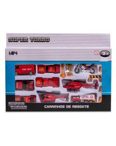 Conjunto de Veículos de Resgate Havan - HBR0082 - Vermelho
