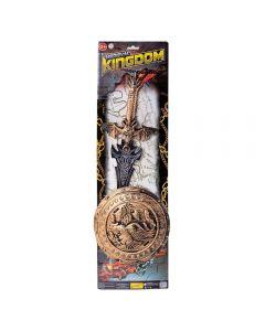 Conjunto Espada E Escudo Medieval 2 Peças - HBR0001