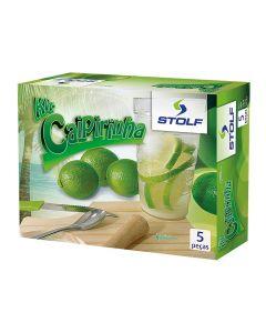 Conjunto para Caipirinha 5 peças Stolf 293 - Verde
