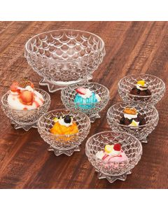 Conjunto Sobremesa Pimeapple 7 peças - Cristal