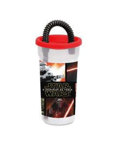Copo com Tampa e Canudo 440ml Personagens Disney Baby Go - STAR WARS