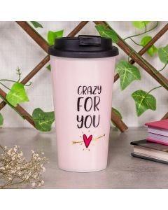 Copo de Café 430ml Crazy For You Finecasa - Rosa