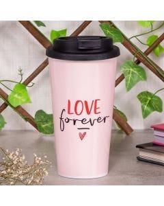 Copo de Café 430ml Love Forever Finecasa - Rosa