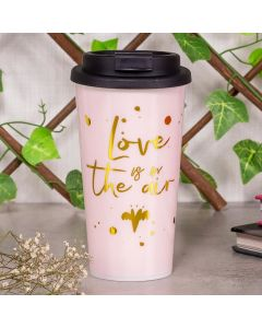 Copo de Café 430ml Love is The Air Finecasa - Rosa