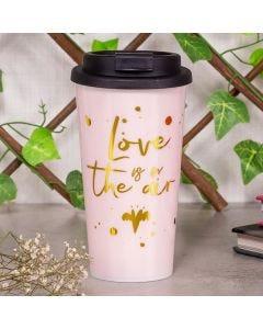 Copo de Café 430ml Love is The Air Finecasa - Rosa