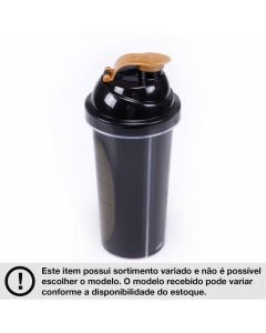 Copo de Shake Decorado 580ml Plasútil  - PRETO