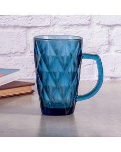 Copo de Vidro com Alça 280ml Lyor - Azul