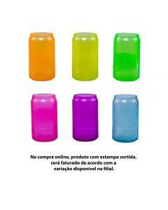 Copo De Vidro Lata Neon 473Ml Libbey - Sortido
