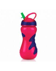 Copo Gator Grip com Canudo Antivazamento 450ml Nuby - Rosa pop