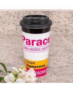 Copo para Café 430ml com Tampa Solecasa - Frase
