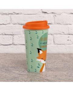 Copo para Café 430ml com Tampa Solecasa - Raposinha