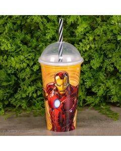 Copo Shake 500ml Plasútil - Homem de Ferro