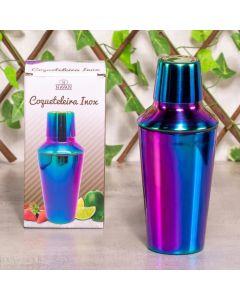 Coqueteleira em Inox Metalizado 600ml Havan - Rainbow