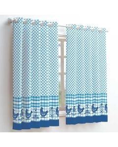 Cortina Athenas 2,00x1,50m para Cozinha Dohler - Azul