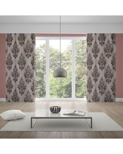 Cortina Black Out 2,80x2,30m Estampado - Taupe