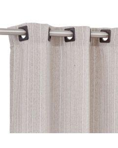 Cortina Chenille 2,00X2,30M Para Quarto E Sala - Nude/Branco