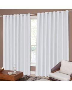 Cortina Corta Luz Tecido 2,60x1,70m Para Quarto e Sala Havan - Branco