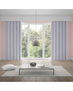 Cortina Corta Luz Tecido Brilho de 2,60x1,70m Liso - Branco