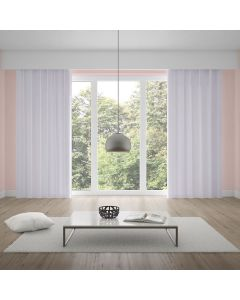 Cortina Duplex Lisa 5,40x2,50m Quarto e Sala - Branco