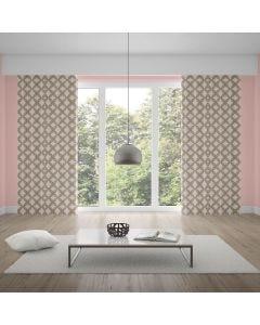 Cortina Duplex para Quarto e Sala 4,20x2,50m Charlotte - Geometrico Nude