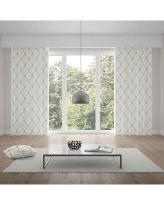 Cortina Duplex Renaissance 4,20x2,30m Bella Janela - Marfim e Taupe