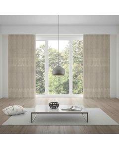 Cortina Duplex Valência 4,20x2,30m Quarto e Sala - Bege