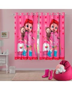 Cortina Infantil Personagens 3,00x1,80m Lepper - Rainbow Ruby