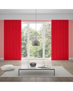 Cortina Oxford 2,80x1,70m para Quarto e Sala - Vermelho