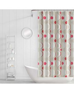 Cortina para Box de Banheiro 1,80x1,80m PanoSul - Vermelho