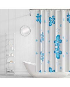 Cortina para Box de Banheiro 1,80x1,80m PanoSul - Azul Médio
