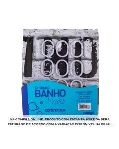 Cortina Para Box De Banheiro 1,80X1,80M - Sortido
