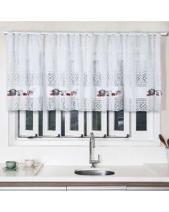 Cortina para Cozinha de Renda 200x80cm Havan - Utensílios Branco
