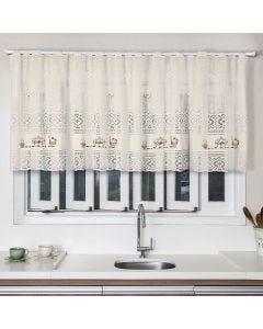 Cortina para Cozinha de Renda 200x80cm Havan - Café Bege