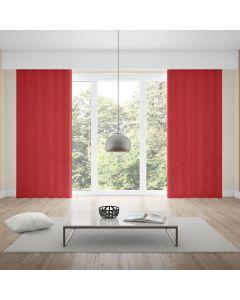 Cortina Rústica 2,60x1,70m Lisa Parma - Vermelho