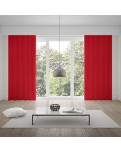Cortina Rústica Pantex 2,60x1,70m Quarto e Sala - Vermelho