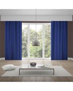 Cortina Rústica Veneza 2,60x1,80m Quarto e Sala - Azul Jeans