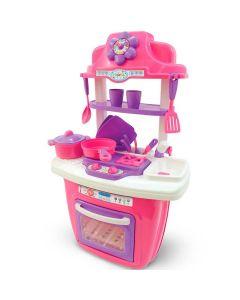 Cozinha Portátil Infantil Vira Maleta Maral - Rosa
