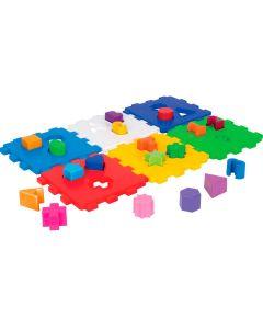 Cubo Didático com 18 Peças para Encaixar Mercotoys - Colorido