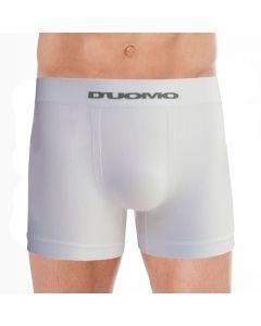 Cueca Boxer sem Costura Microfibra Duomo Branco