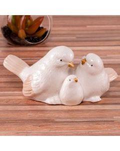 Decoração Pássaros Pais e Filho House 36 - Branco