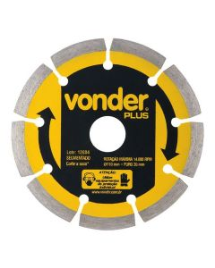 Disco Diamantado Plus 110mm Vonder - 1268600000
