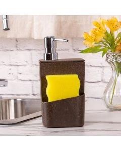 Dispenser para Detergente 650ml Eco Martiplast - Marrom