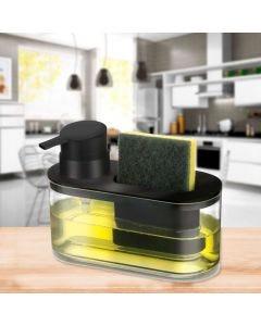 Dispenser para Detergente e Bucha Arthi - Preto