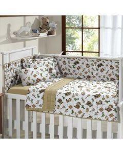 Edredom Infantil 100x140cm Malha Yoyo Baby - Marrom Claro