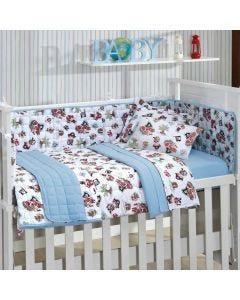 Edredom Infantil 100x140cm Malha Yoyo Baby - Azul