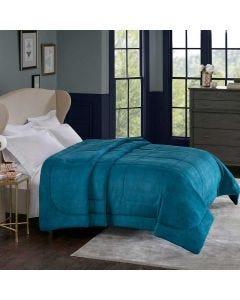 Edredom Queen 2,40mx x2,20m Alaska Home Design Corttex - Arquimedes Azul Adriatico