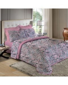 Edredom Solteiro Confort Plush Dupla Face Havan - Camel Make Rosa