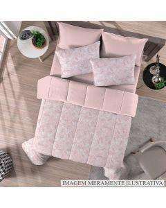 Edredom Solteiro Malha Soft Solecasa - Vual Rosa Antigo