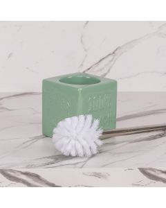 Escova Sanitária com Suporte Zoe Finecasa - Verde