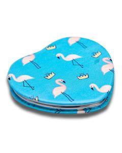 Espelho de Bolsa Coração Boby Blues - Flamingo